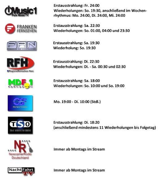 Nachtfahrt TV mit Natalie Langer jetzt auch bei Fernsehen aus Niedersachsen FAN