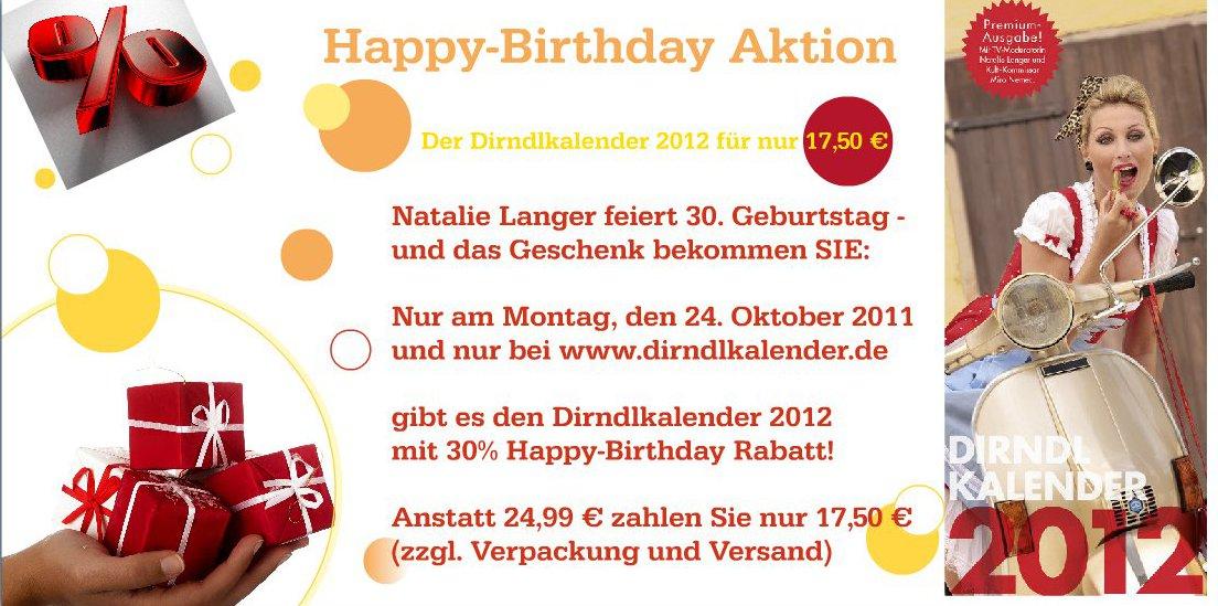 Dirndlkalender 2012 Geburtstagsaktion