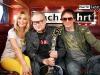 Heinz Rudolf Kunze  mit TV Moderatorin Natalie Langer bei Nachtfahrt TV