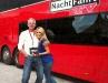 TV Moderatorin Natalie Langer mit ihrem Lieblingsfahrer Holger bei Nachtfahrt TV